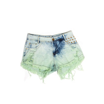 Shorts Degrant Penélope Degrade Detonado Verde
