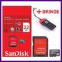 Cartão De Memória Micro Sd Sandisk 32gb +leitor Promoção