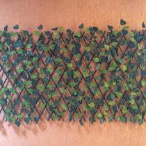 Treliça Cerca Painel Madeira E Hera Jardim Decoração 1,75m