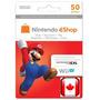 Cartão Nintendo Eshop Canadá 50 Dolares - Código Canadense