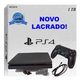 Ps4 Playstation 4 Slim Novo Hdr 1tb Bivolt Sony Garantia 12m
