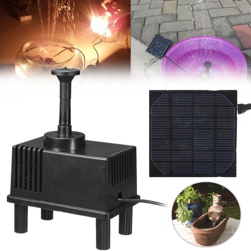 Fonte De Energia Solar Kit Painel Bomba De Água Piscina Jard