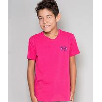 Camiseta Infantil Gola Careca Paco Kids - Rosa
