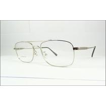 Armação Aviador De Titanium Óculos De Grau Prata - A572