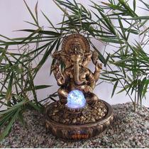 Fonte De Água Decorativa Ganesha Com Led Colorido - Yoga.