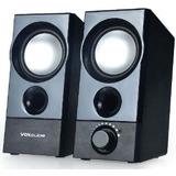 Caixa De Som Stereo Usb 500w 2.0 Pc Notebook Qualidade Hi-fi