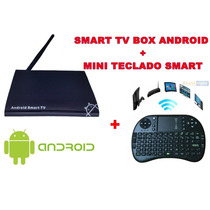 Android Tv Box + Mini Teclado S/ Fio, Smart Tv Android 4.2