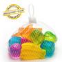 Kit 10 Cubos Gelo Artificial Ecológico Colorido Reutilizável