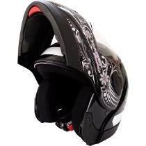 Capacete Moto Taurus Robocop Modular Zarref V3 Feminin Preto