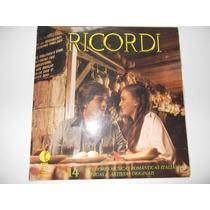 Lp Ricordi - 14 Melhores Músicas Românticas Italianas.