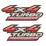 Par De Emblemas 4x4 Da Hilux 2009/2013 Aplicável 2005/2015