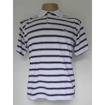 Camisa Pólo - Branca C/ Listras Pretas - Lacoste (m)