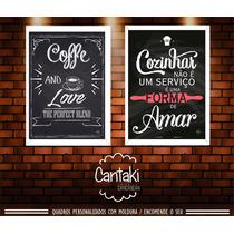 Kit Quadros Para Cozinha Em Moldura Mdf Branca- Cantaki