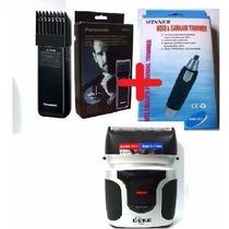 Aparadora Panasonic + Depilador Pelos Nariz + Barbeador Gike