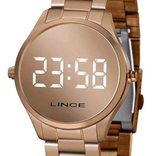 Relógio Lince Feminino Digital Rose Gold Mdr4617l Bxrx