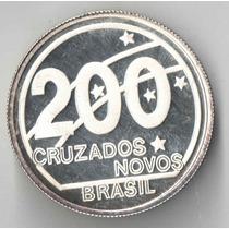 200 Cruzados Centenario Da Republica 1989 So A Moeda