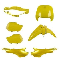 Kit Carenagem Honda Biz 100 Comp. Ano 98/99 Amarelo