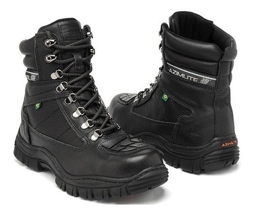 cfe7447853 Boot Coturno Adventure Moto Polícia Feminino Couro Preto. R$ 219