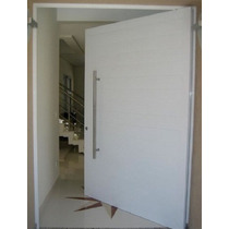 Porta Pivotante De Alumínio 1400x2200- Lisa Porta Completa