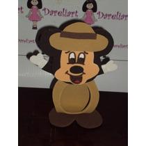 Porta Bombom Mickey Safari Em Eva 10 Cm - Kit C/10 - Mickey