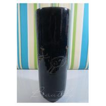 Vaso Decorativo, Cerâmica Rupestre, Esmaltado Azul Cobalto