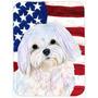 Bandeira Americana Dos Eua Com Maltês De Mesa De Vidro Cort