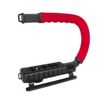 Grip Estabilizador Mão Filmagem Vivitar Vivvpt200 Vermelho