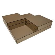 Mesa Centro Elegance-espelho Bronze/prata (lançamento)