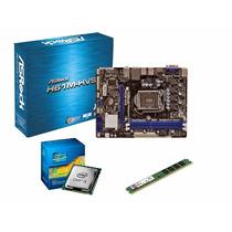 Kit Placa Mãe Asrock H61 Intel Core I3 4gb Ram