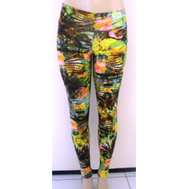 Calça Supplex Legging Estampada Fitness Academia
