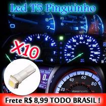 Kit 10 Lampadas Led Pinguinho T5 5050 Painel Led Carro Moto