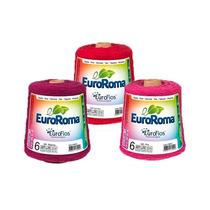 Kit 3 Barbantes Euroroma Colorido Fio 6 E Fio 8 Frete Grátis