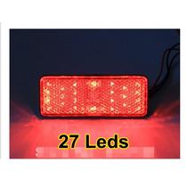 Lanterna Luz E Freio Traseira Moto Carro Caminhão 27 Leds