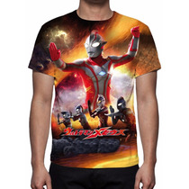 Camisa, Camiseta Série Ultraman - Estampa Total