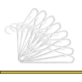 Kit 50 Cabides Loja Closet Acrílico Tradicional 40cm Slim
