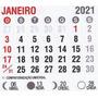 Mini Calendário 2021 Bloco 100 Un Para Imã Personalizado Original