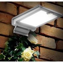 Luminária Solar 46 Led Parede Muro Jardim Sensor De Presença