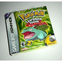 Pokemon Leaf Green Version Original Completo - Gba Game Boy