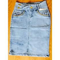 Saia Jeans Barato Secretária Evangélica Customizada 36 A 46