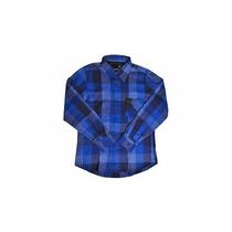 Camisa Masculina Xadrez Flanelada Casual Moderna Algodão