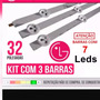 Kit 3 Barras Led Nova 32ln5400 32ln570b 32la613b 32ln540b