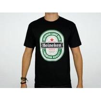 Camiseta Heineken Camisa Herói Rock Caverna Do Rock