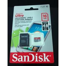 Cartão De Memória Micro Sd Hc 16 Gb Classe10 Original 30mb/s