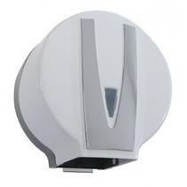Suporte Porta Papel Higiênico Dispenser Branco E Cromado