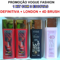 Promoção Vogue Fashion Definitiva + London Luxo + 4d Brush