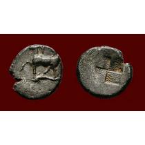 Bizancio Trácia. Hemidrachma Prata Moeda Antiga Grega Grécia