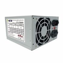 Fonte Atx 500 Watts Nominal Fn-f-500 F-new (o&m) Ref.7955