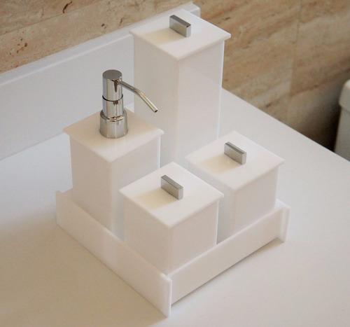 Jogo de Utensílios para Banheiro  Preços a Partir de R$ 24,99  Buscapé -> Pia Para Banheiro Buscape