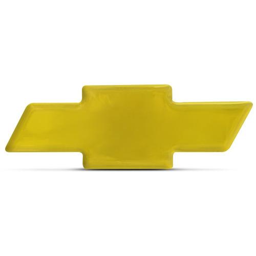 Emblema Resinado Chevrolet Dourado 9x3cm