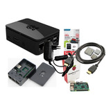 Kit Raspberry Pi3 B, Fonte, Case Oficial Black E Cartão 32gb